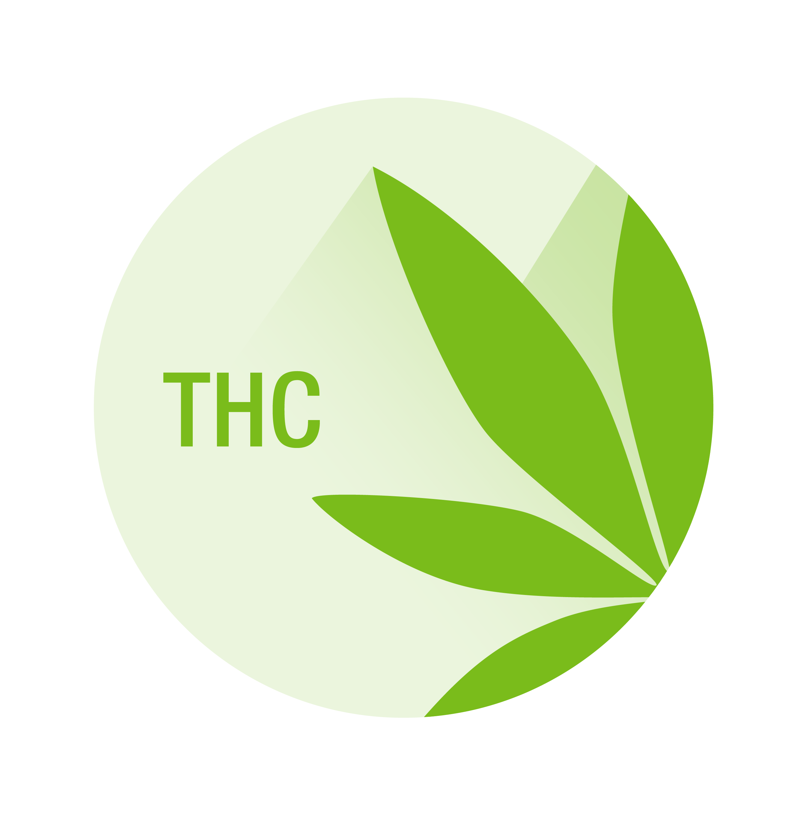 THC label with marijuana leaf