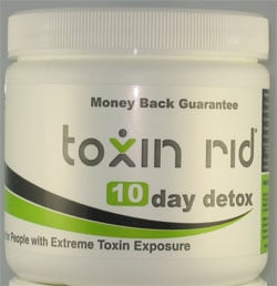 Toxin Rid 10-Day Detox white tub product sample