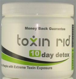 Toxin Rid 10-Day Detox white tub product sample