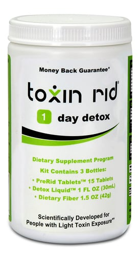 Toxin rid white tub product sample