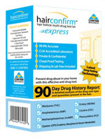 Hair Confirm Express Hair Drug Testing Box