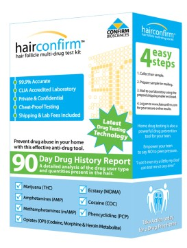 Hair Confirm Regular Hair Drug Testing Kit