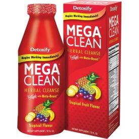 Mega Clean red bottle with box