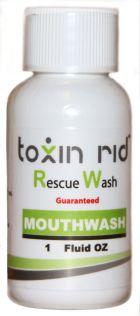 Toxin rid mouthwash product sample