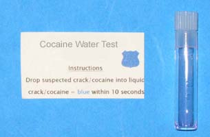 DROGA Test coca in acqua/alcool